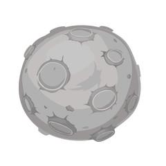 cartoon illustration of a moon, vector