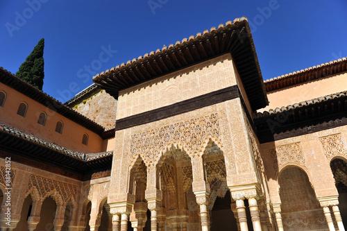 Alhambra De Granada Patio De Los Leones Andalucia Espana Stock