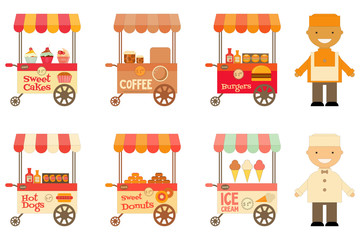 Street-Food Market Store Car