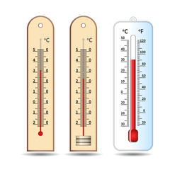 Three thermometer. temperature measuring instrument