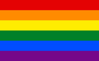 Full frame of rainbow flag