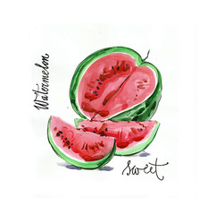 Watercolor watermelon