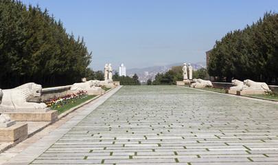 """""""Львиная дорожка"""" ко входу в мавзолей Ататюрка. Анкара. Турция."""