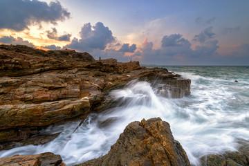 Seaside stone and sky