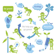 Eco elements and frogs