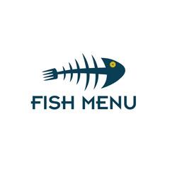 fish menu vector design template