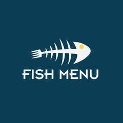 fish menu vector design template