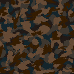 War camouflage seamless vector pattern. Can be used for wallpaper, pattern fills, web page background, surface textures. Vector illustration