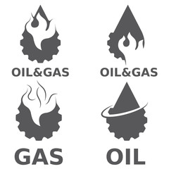 oil and gas industry vector design elements