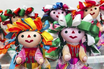 Colorful Lupita Dolls Mexico City Mexico