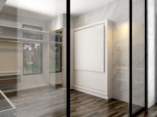 3D render dressing room interior luxury style