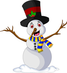 Funny Xmas Snowman cartoon for you design