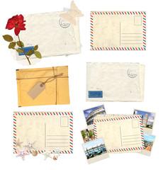 Set of old envelopes