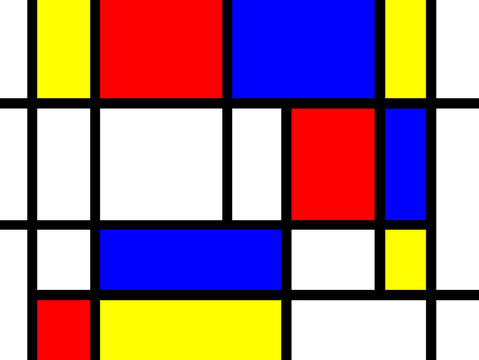 Mondrian Style Hintergrund