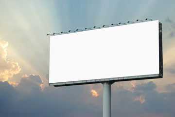blank billboard for advertisement on sky background Wall mural