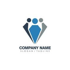 Swooshy People vector logo icon