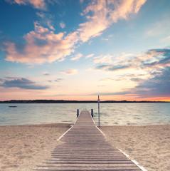 Fototapeta Kładka na plaży obraz