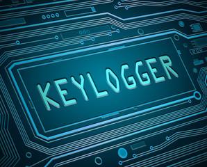 Keylogger concept. - fototapety na wymiar