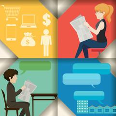 Communication concept infographic