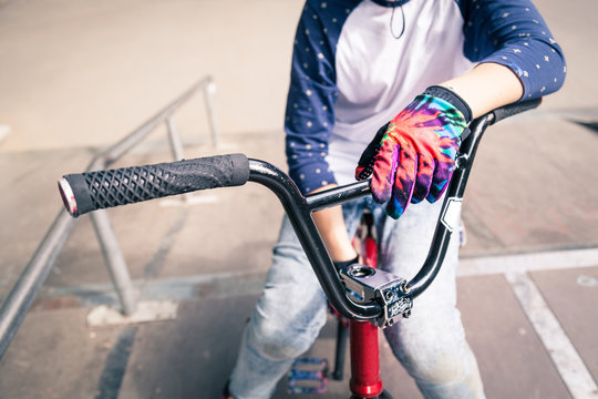 BMX rider on his bicycle