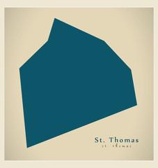 Modern Map - St. Thomas BB