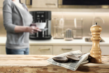 woman and kitchen