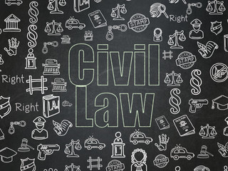 Law concept: Civil Law on School Board background