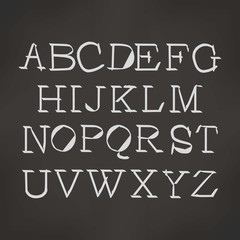 English alphabet cursive