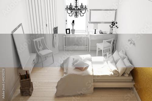 Entwicklung eines schlafzimmers im raumplaner stockfotos for Schlafzimmer raumplaner