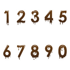 Chocolate numbers font
