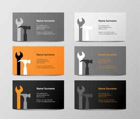 set of colorful business cards, illustration