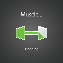 Muscle is Loading! - Weight Icon Design