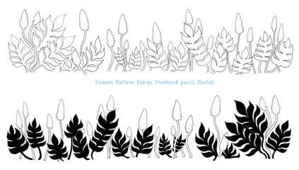 Flower and leaves pattern design