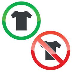 T-shirt permission signs set