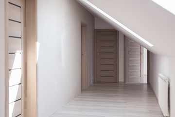 Home hallway in neutral colors