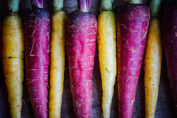 Wall Mural - Colorful carrots