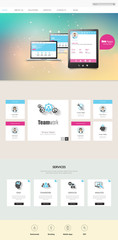 Colorful One Page Website Template