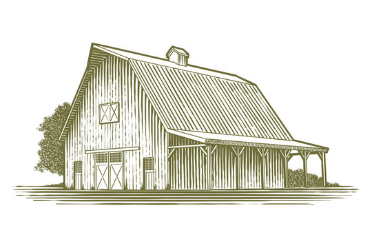 Woodcut Barn Icon