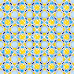 Vector sketch of geometric traditional pattern