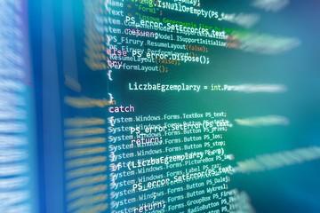 Programming code abstract screen of software developer.