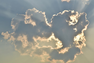 sunlight on the beautiful clouds