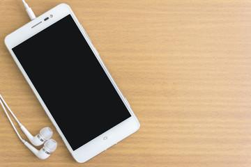 smartphone and earphone