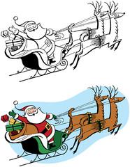 Santa on Sleigh