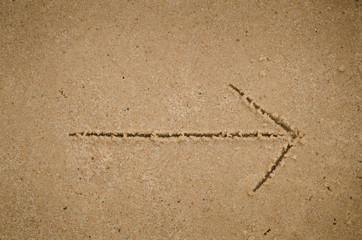 arrow on sand