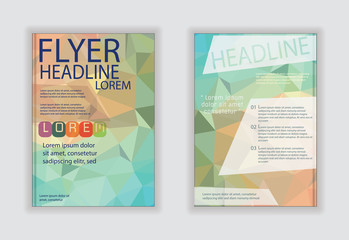 booklet Templates. Geometric Abstract Modern  design