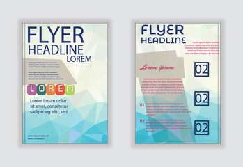 Vector template  brochure flyer design layout template in A4 siz