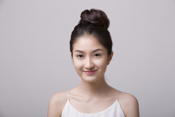 Beauty woman portrait. Skin and face care concept