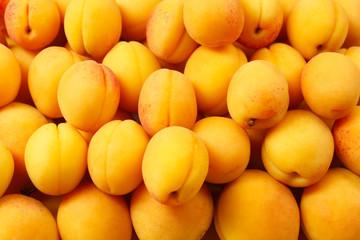 Ripe apricots background
