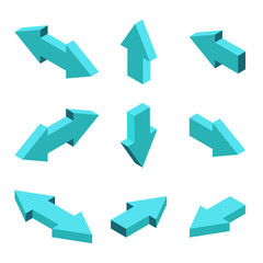 Vector moders set of isometric arrows