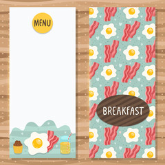 Brochure template for breakfast menu